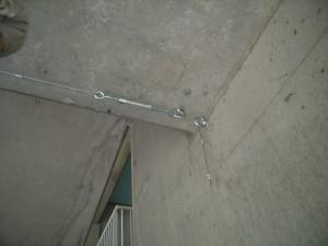 シルバーネット取付用ワイヤー設置